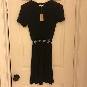 AE black cut out dress